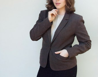 Vintage 1970s Blazer - The Classic - Pendleton Chocolate Brown Wool Blazer