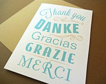 Thank You Cards / Wedding Stationery / Wedding Thank You Cards, Vintage Type, 25-Count
