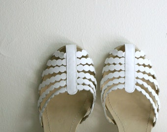 white leather dance shoes gladiator sandals 9/40