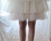Carrie Tulle Skirt - Custom Color Romantic Tiered Tutu w Cotton Lining, Satin Sash by Anjou - SATC Whimsical Wedding, Party, Prom, Plus Size