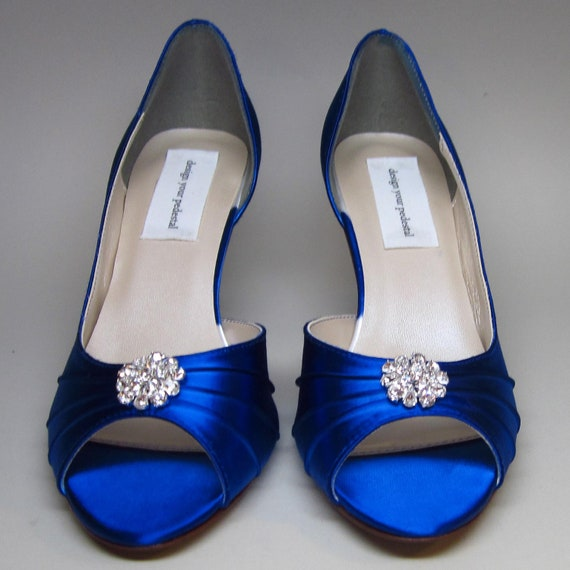 Bridal Shoes Dsw: Sapphire Blue Wedding Shoes Sapphire Blue Kitten Heels With