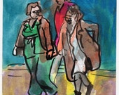 "Original Drawing - ""Three Women"" by Peter Mack"