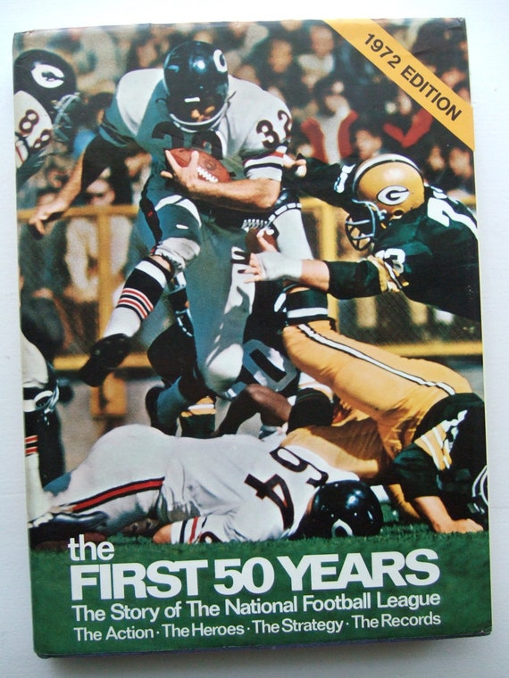 The Story of The National Football League - The First 50 Years Coffee Table Book 1972