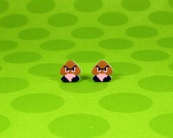 Super Mario Goomba Earrings