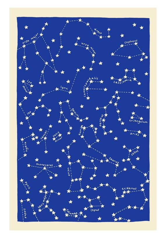"""a5 print - """"road map for star gazers"""""""
