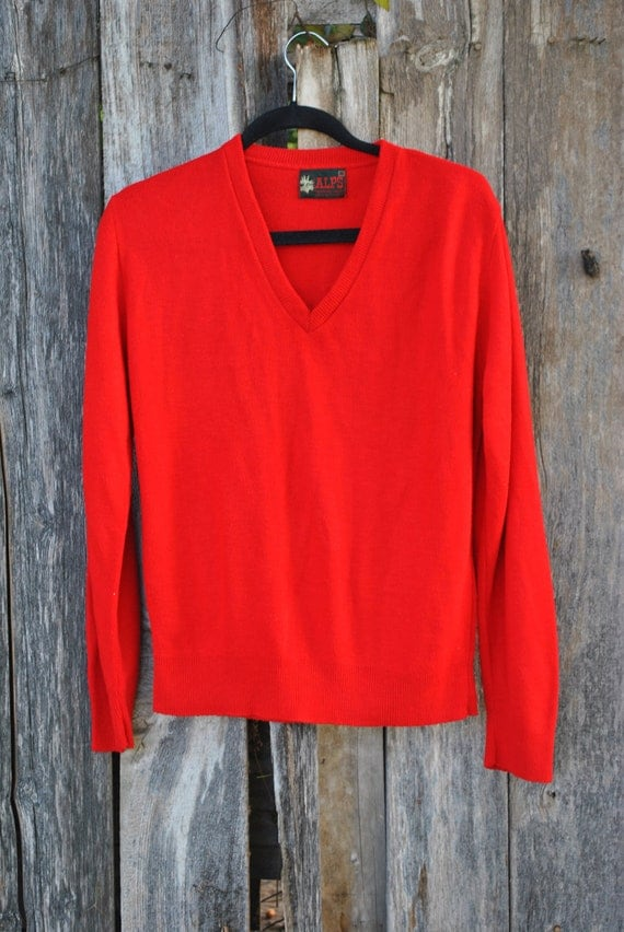 Items similar to SALE!!! / / /ALPS Men's Red Pull Over Cardigan ...