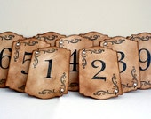Elegant Table Number Cards // Wedding // Vintage Inspired // Scrolls // Rhinestone Accented // Made To Order