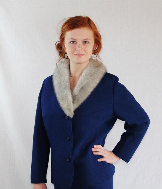 Blue Wool Suit, Fur Collar, Mad Men, Thoma Modell, Norwegian Wool