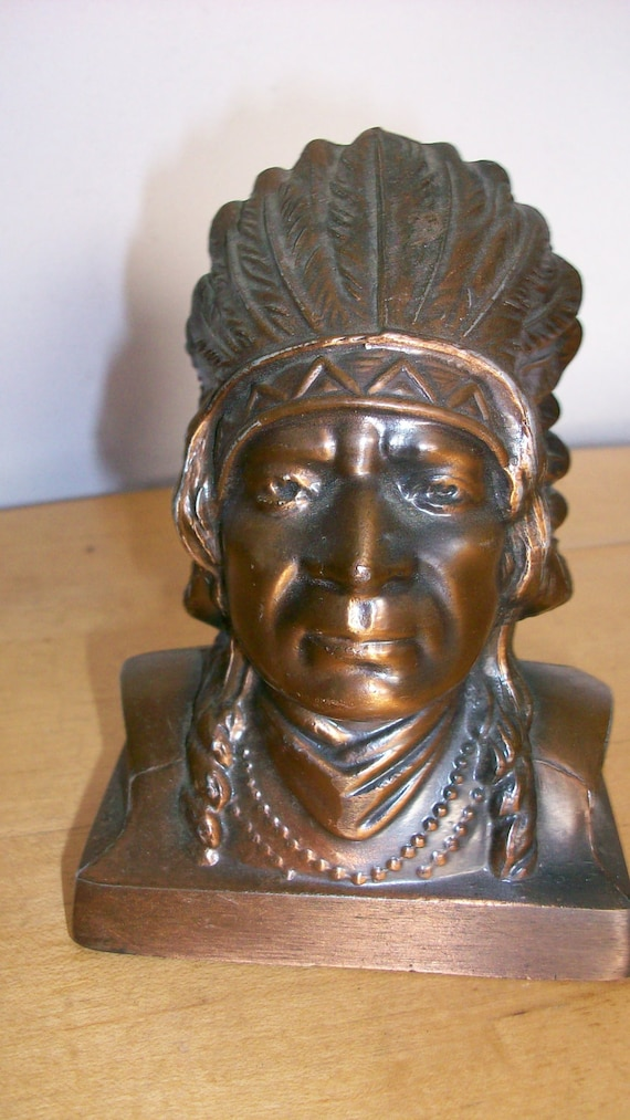 Vintage Americana Indian Head Brass Bank By Banthrico Inc For