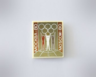 Vintage Pin Badge Summer Olympic Games Moscow-1980