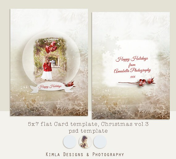 5x7 postcard mailing template - items similar to 5x7 in christmas card template vol 3 psd