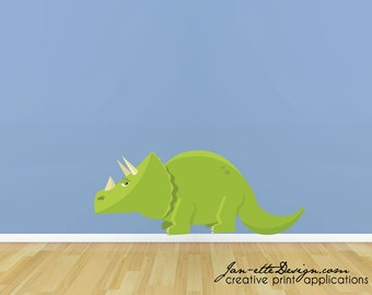 Dinosaur Fabric Wall Decal, Removable and Repositionable Kids Wall Decals