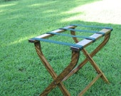 Hand made (USA)  folding luggage stand/rack. Beautifully made with pine & sturdy webbing.