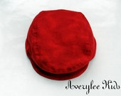 Newsboy Hat in Marble Red Flannel, Infants and Toddlers