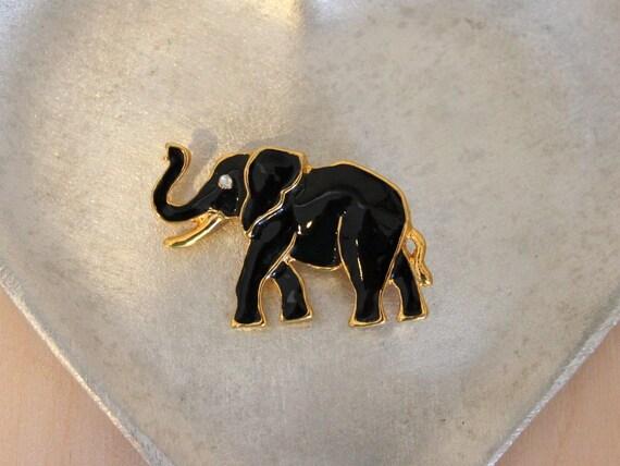 Vintage African Elephant Brooch Pin