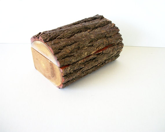 items similar to bark covered rustic sassafras wood log