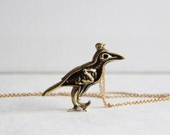 An Anatomy skeleton of a Bird Necklace