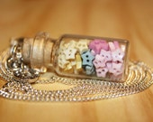 SALE - MUST GO! Jar of Wish Stars - Glass Bottle Necklace