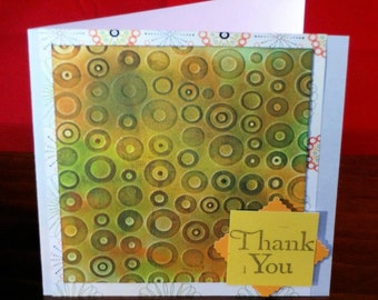 Funky Retro Thank You card
