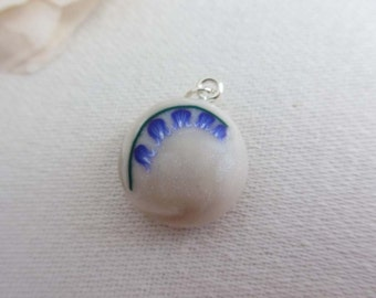 English Bluebell Wild Flower Pendant