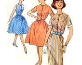 Vintage 60s Shirtwaist Dress Pattern - Simplicity 4426 - Slim / Gathered Skirt - Size 18