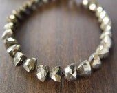 Triangle Pyrite Bracelet 14k Gold