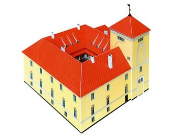 Ventspils Castle || Medieval castle of Livonian Order || full color printed paper model kit || scale 1/175