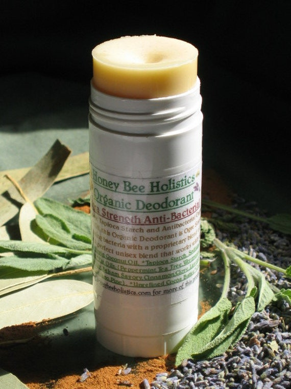 Organic Extra Strength Deodorant 2 oz Size - Corn Starch and Zinc Free - Only Organic Essential Oils Used - Unisex Blend