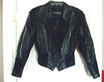 Sweet Black Leather Jacket - Jackets for Women Size Small
