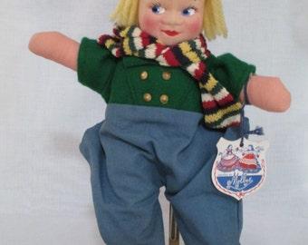 Dutch Doll/Cloth Doll Dutch Mollye/ Rag Doll/ International Cloth Doll/Mid Century Doll/ By Gatormom13 JUST REDUCED