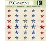 Americana Star Adehesive Gems by K&Company 35 pcs