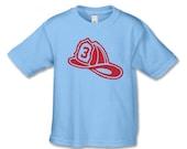 3rd Birthday Shirt - Fireman Birthday TShirt - Fireman Birthday Party - Personalized Birthday Shirt - Fire Truck Birthday - Firehouse 3