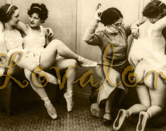 MATURE... Ecole De Ballet... Deluxe Erotic Art Print... Vintage Nude Photo... Available In Various Sizes