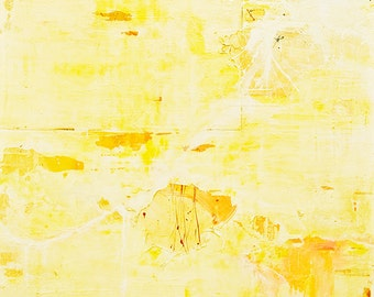 LARGE ABSTRACT PAINTING  original yellow white red Modern Conceptual  RGCIV12.2011No.19EOC2 -  Distilled Reality/Free Shipping