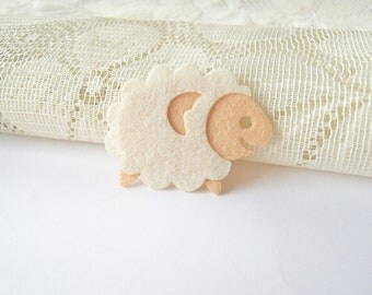 Iron on Applique, Cute White Cream Sheep, Sew Patched, Baby shower, Girl Dress, baby, kid, toys, Australia, Scrapbook, Card, DIY, B2