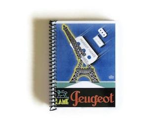 SALE! Eiffel Tower Cutted - Spiral Notebook - 4x6in