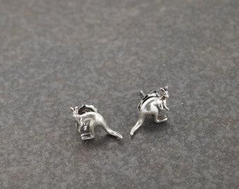 Silver Kangaroo Post Earrings
