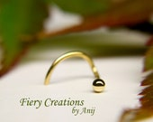 """Nose Screw / Tragus stud """"Small Ball"""" 1.9mm -  18k SOLID Yellow Gold"""