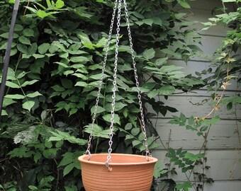 Large Hanging planter pottery unglazed modern Outdoors Garden woodland gardening Bowl, Wheel thrown