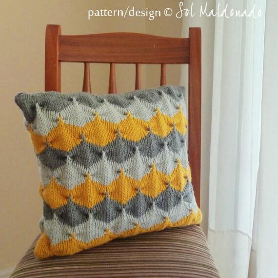 Items similar to Pillow knit pattern Decorative geometric ...