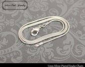 SOJ-016: Set of 10 - 22 inch Silver 1mm Snake Chain Necklaces