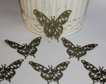 5 Metal Filigree Butterflies Embellishments for Scrapbooking,Card Making,Home Decor,Mini Albums,Journals,Craft Projects,Altered Art