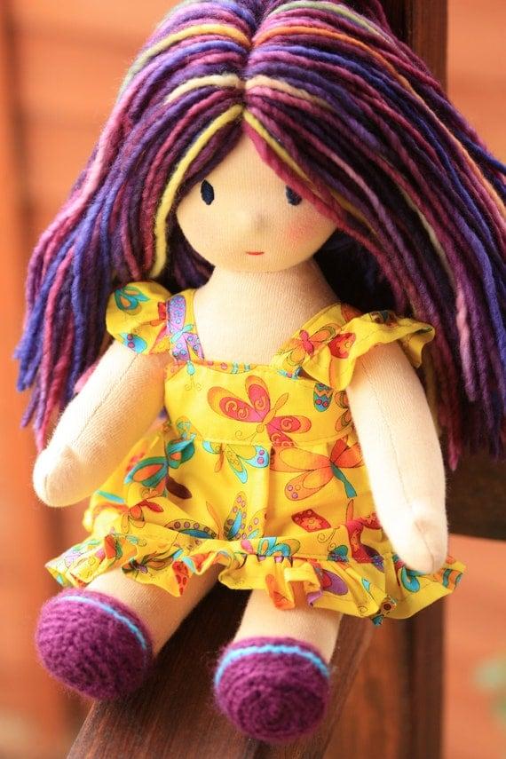 "Waldorf doll Violeta,13"" tall,soft toy"