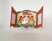 Handmade Happy Halloween Ghost Shadow box card