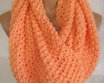 Chunky Salmon Mint Winter Wool Scarf Knit Scarf Knitted Hooded Winter Fashion Scarves Woman Accessory Christmas Gift Ideas For Her For Mom