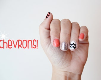 Chevron Fingernail Stickers