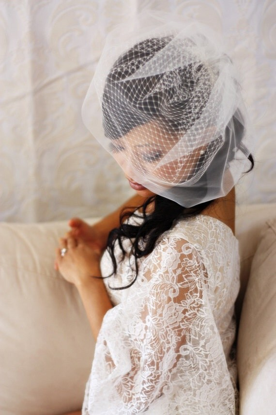 15 inch Double Layered Birdcage Veil