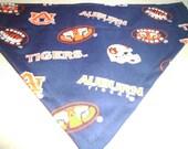 Auburn, Dog Bandana, Scarf,  Over the Collar Dog Bandana, Football