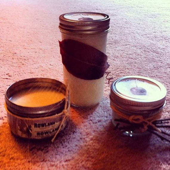 6 oz Milk Chocolate Scented Homemade Handmade Soy Wickless Candle In Natural Decor Tin