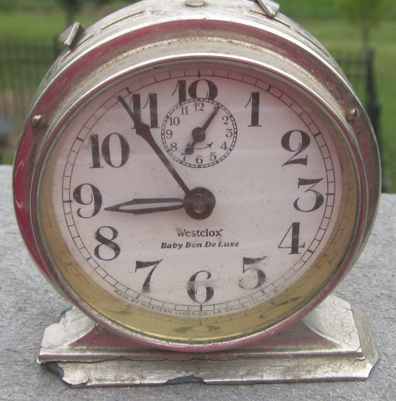 Westclox Baby Ben Alarm Clock Patent Date 1920 1925